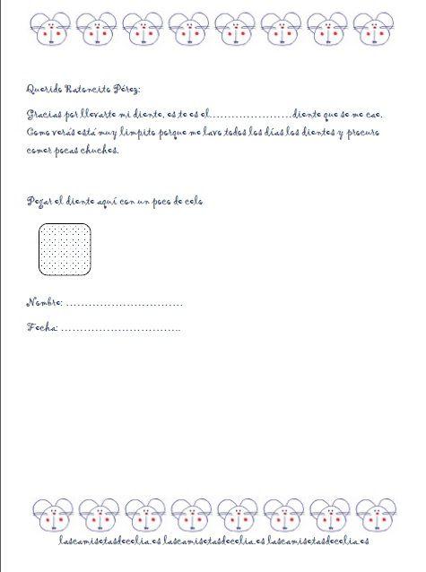 Carta para el Ratoncito Pérez | Raton perez, El aula y Papelería