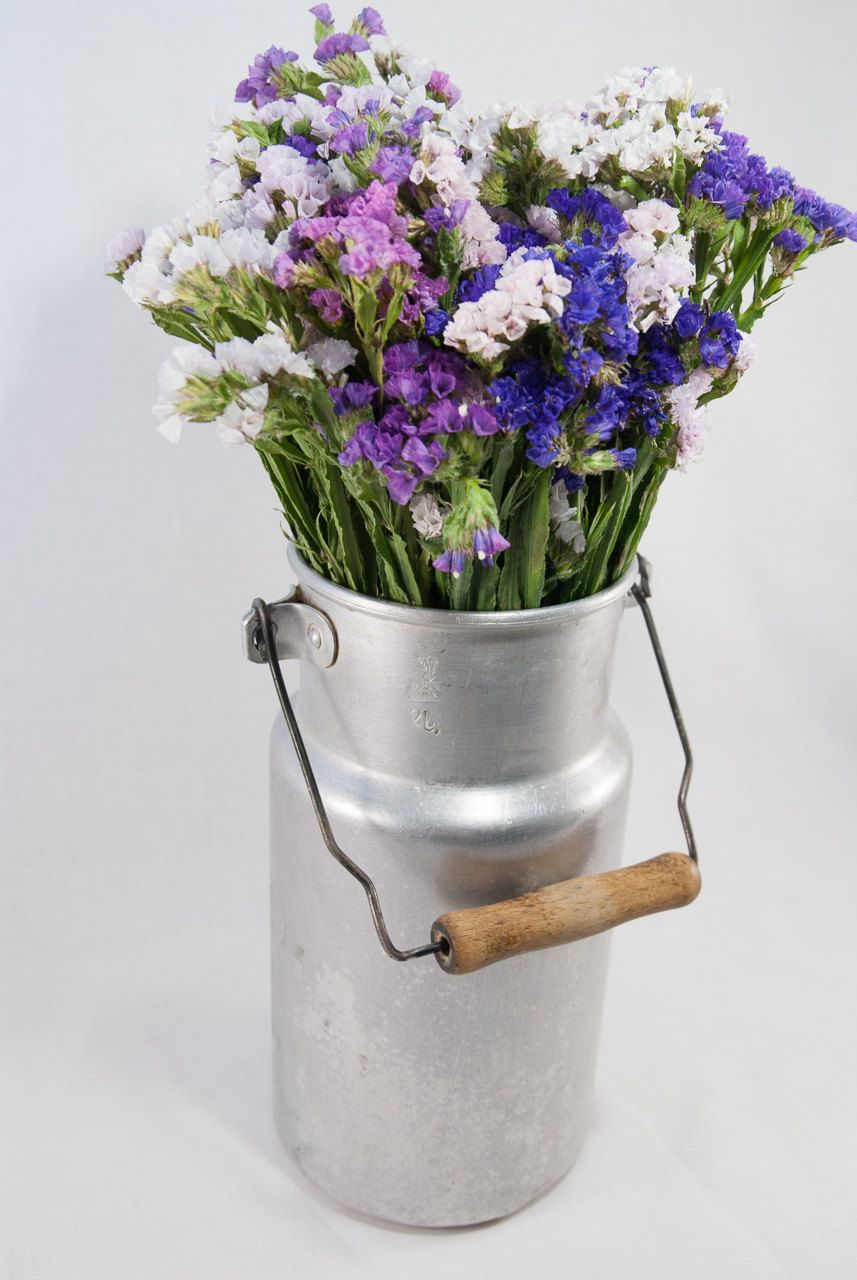 Decorative Jugs And Vases Rustic Metal Milk Jug Rustic Milk Can Old Milk Jug Enamel Milk