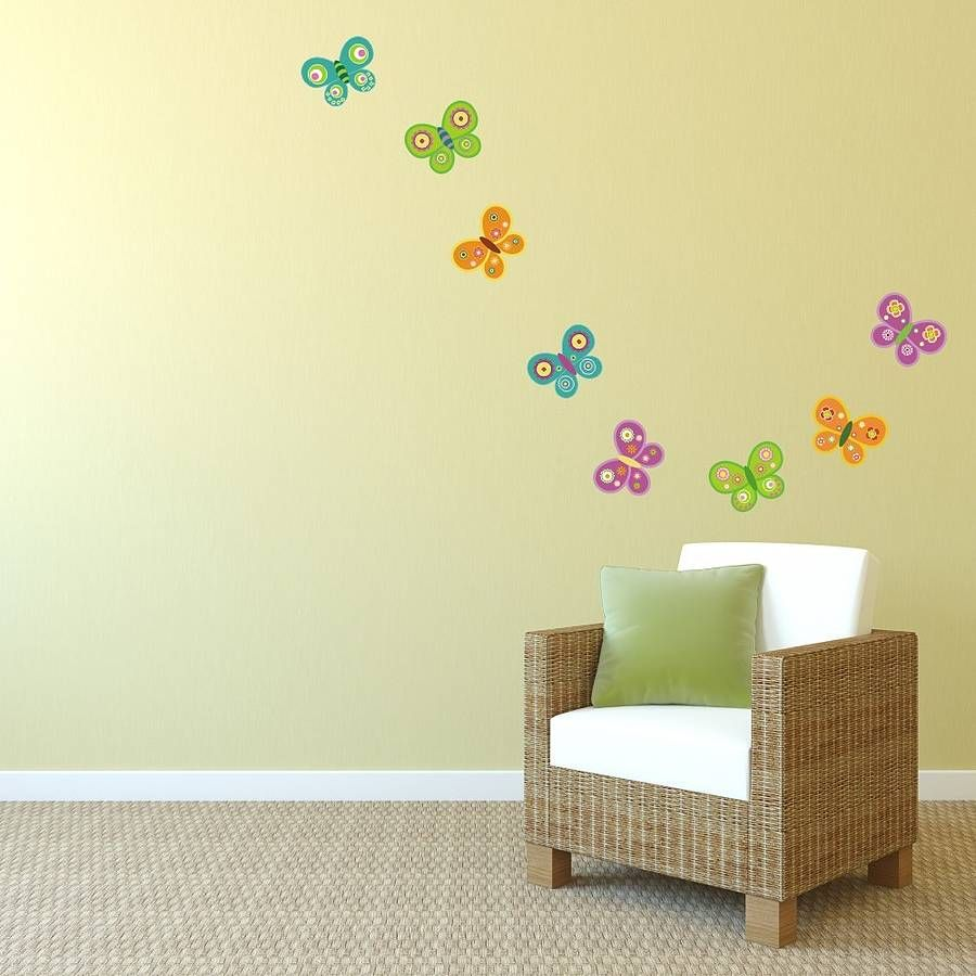 Cute Butterfly Wall Stickers For Baby And Kids Room : Winsome ...