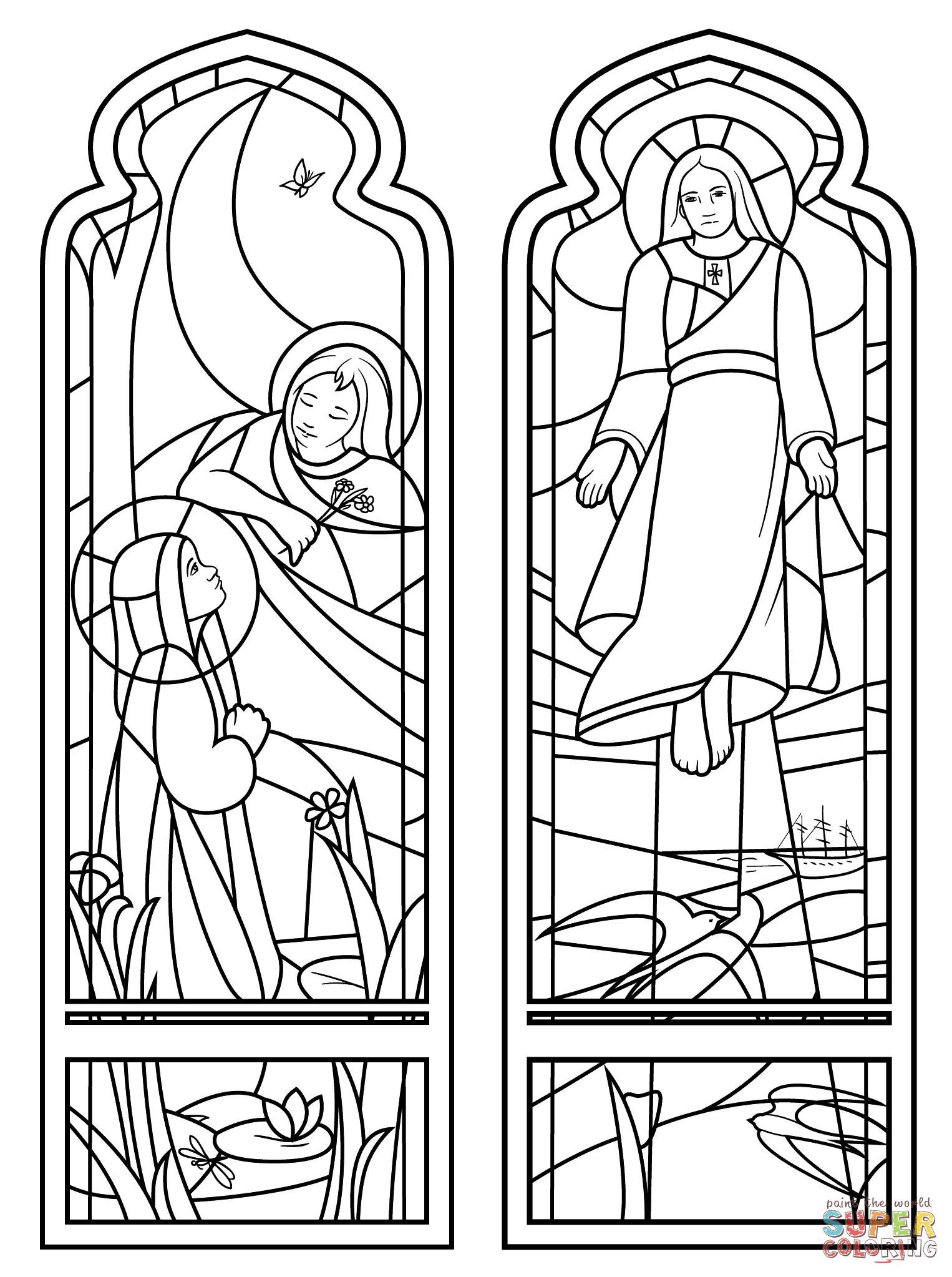 The Ascension Stained Glass | Super Coloring | Katecheza | Pinterest