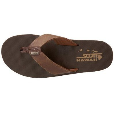 7c4b5eb888506 Amazon.com  Scott Hawaii Men s Koa Flip Flop  Shoes