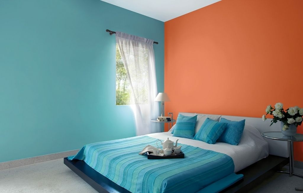 Image result for two colour combinations for bedroom ...