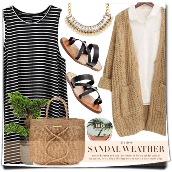 Sandal Weather by anilovic on Polyvore featuring Chicnova Fashion, Steve Madden, ViX, Adele Marie and Urban Decay