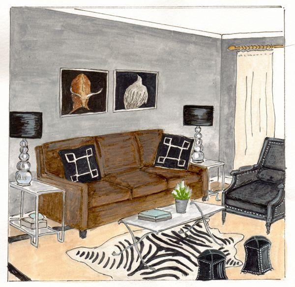 Best Modern Bachelor Bedroom Rendering Boyfriend Apartment 640 x 480