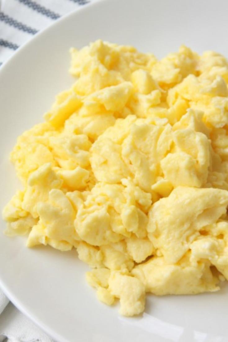 Easy Delicious Fluffy Scrambled Eggs Breakfast Ideas Recipes Fluffy Scrambled Eggs Scrambled Eggs Recipe Scrambled Eggs