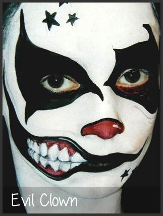 Clown Face Paint Google Search Scary Clown Face Creepy Clown Makeup Scary Clowns