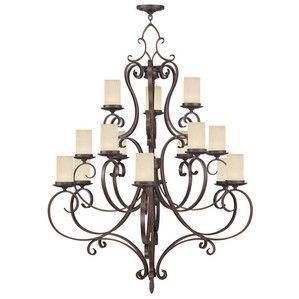 Livex Lighting 5497-58 Millburn Manor Chandelier in Imperial Bronze