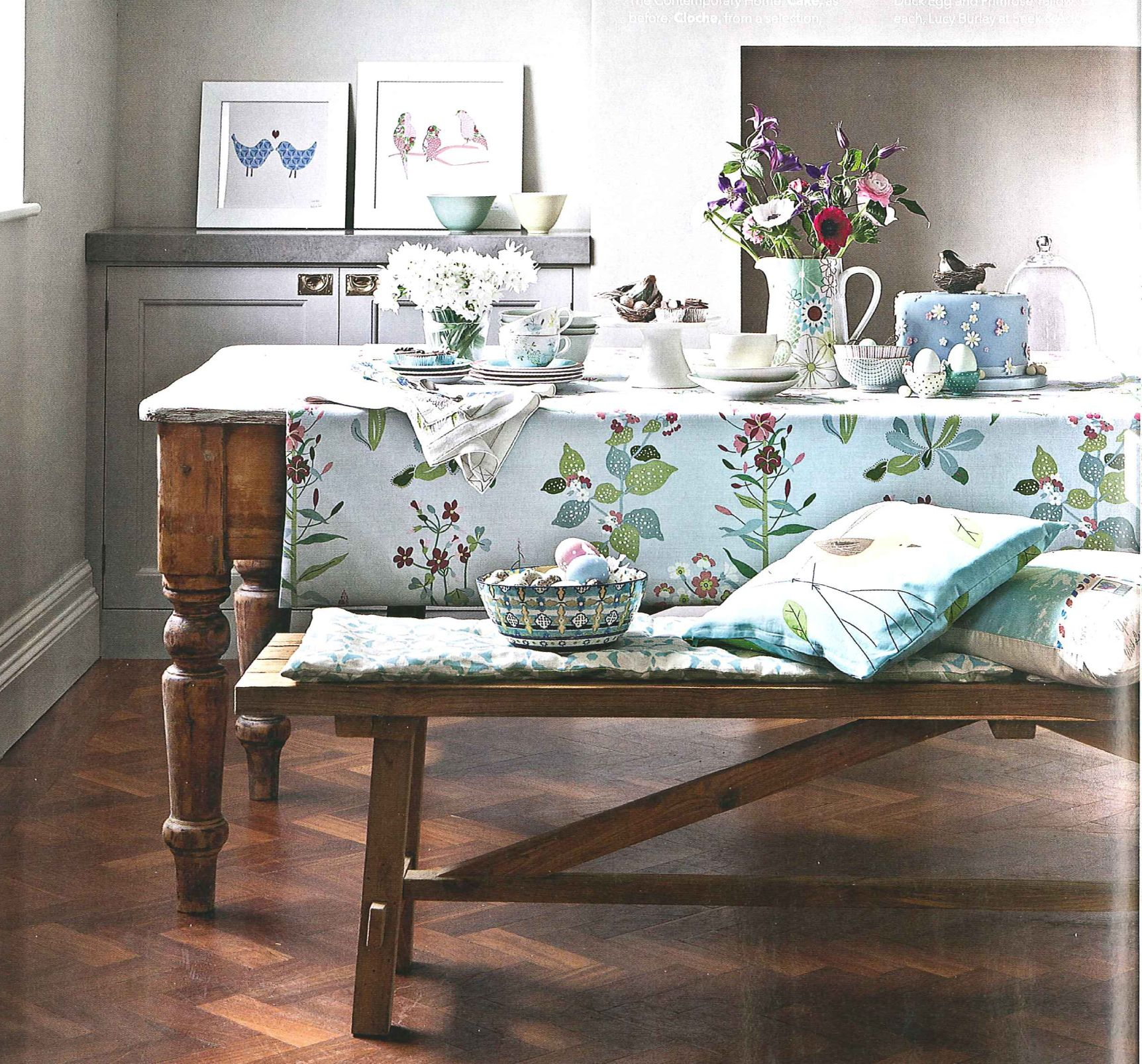 Wooden Dining Table And Bench