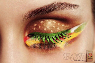 burger eye! Wow the craziness