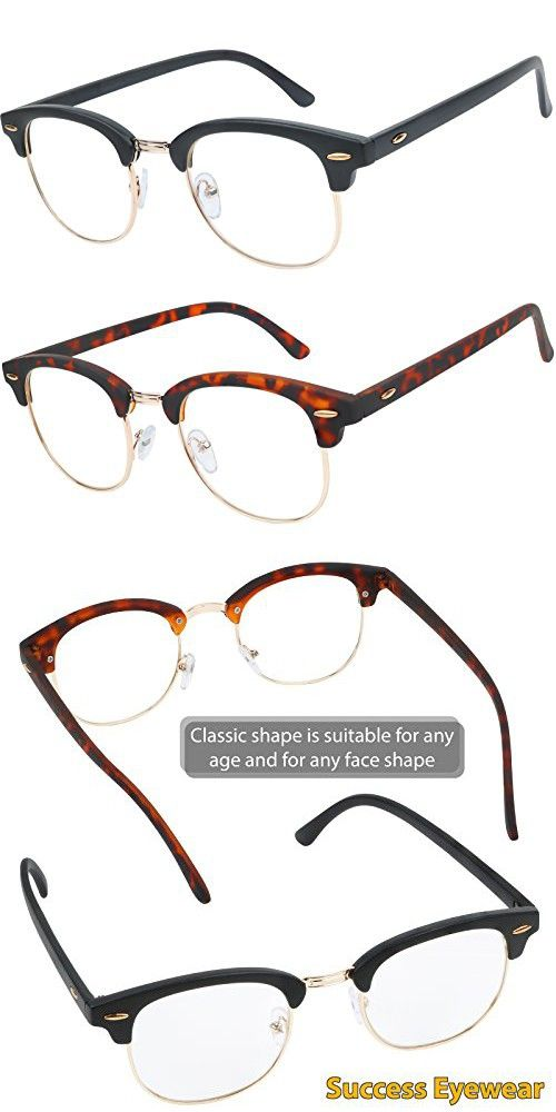 c0934ec8a6d READING GLASSES Set of 2 Fashion Clubmaster Style Readers Quality Spring  Hinged Glasses for Reading for Men and Women 1