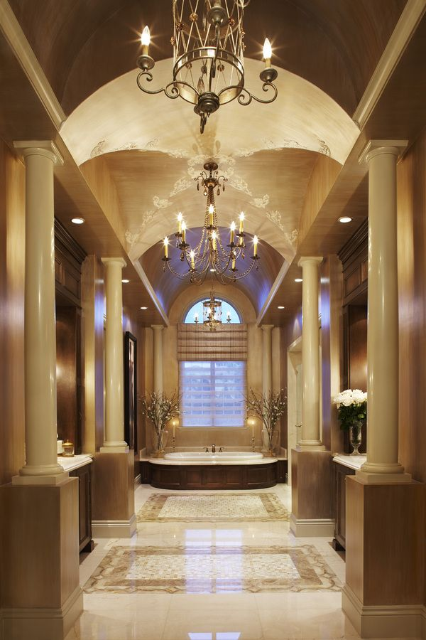 Barrel vault bathroom suite and master bath are for Master bathroom suite designs