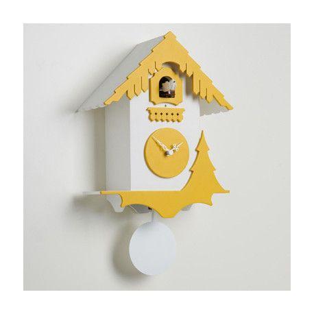 Horloge coucou Chalet, Diamantini & Domeniconi blanc, jaune   Pinterest