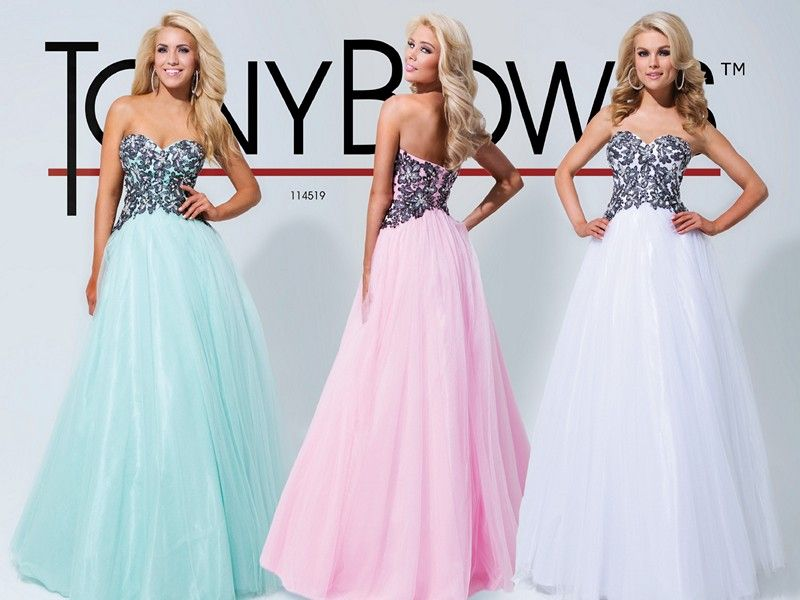 Tony Bowls Le Gala 114519 Princess dress for prom, black and white ...