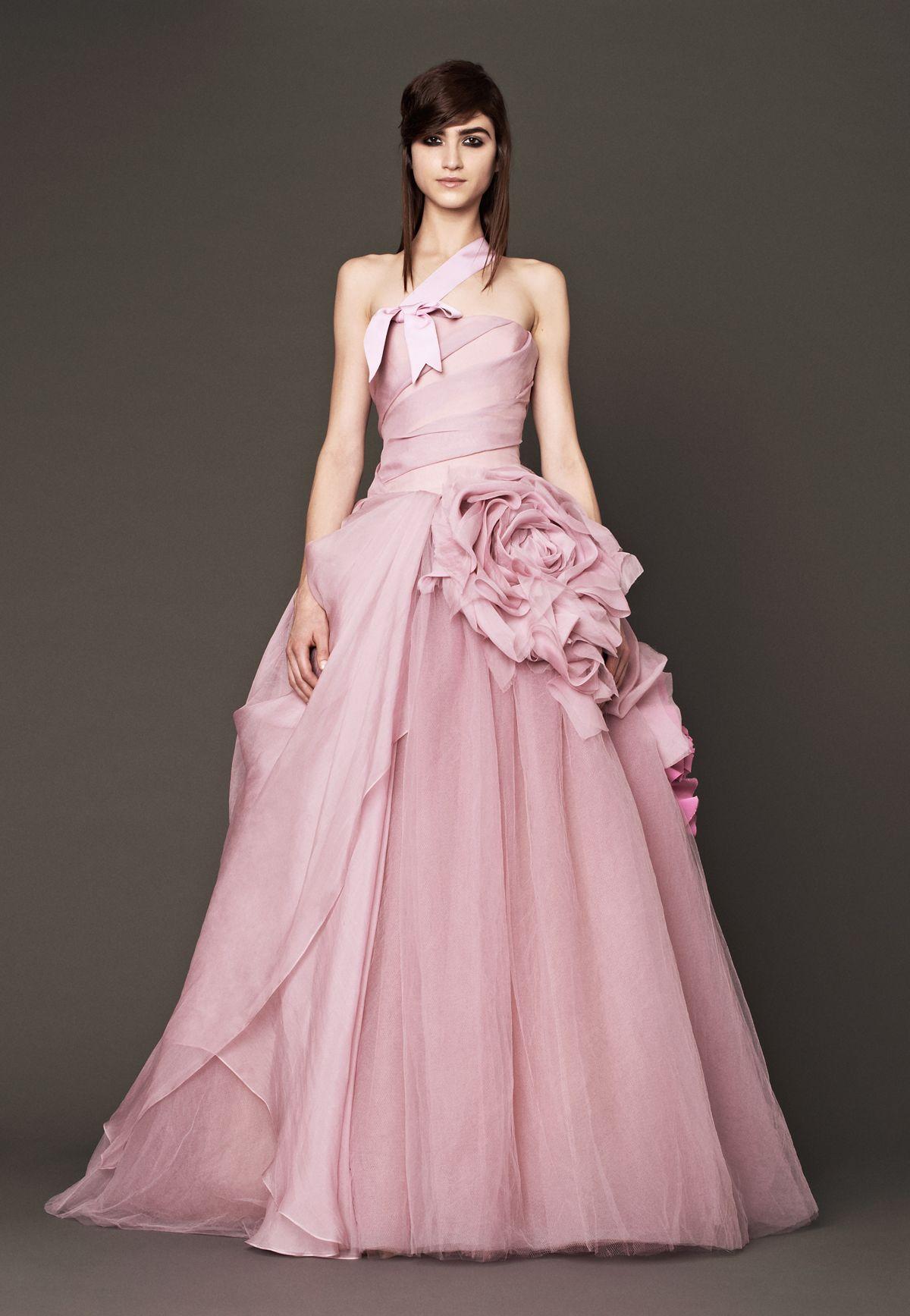 vera wang | fall 2014 | nessa gown | wedding dress | bridal | pink ...