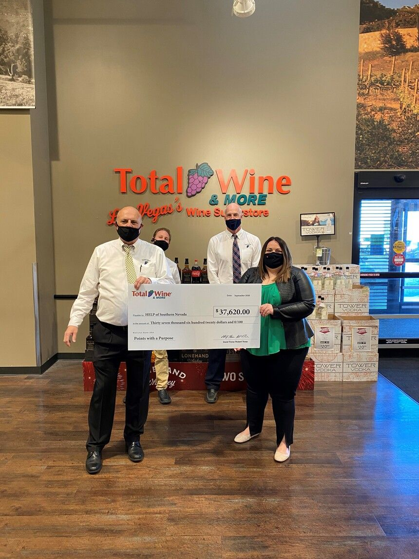 Help Of Southern Nevada Received Generous Donation From Total Wine More Oct 2 Vegas24seven Com Total Wine Nevada Customer Appreciation