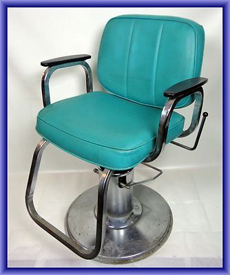 Harting Turquoise Vintage Salon Chair Studio Hair And Makeup Chair Ebay