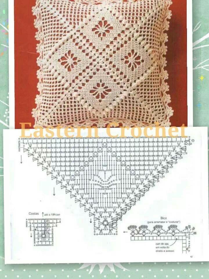 Crochet pillow pattern | Ganchillo | Pinterest | Ganchillo y Flor