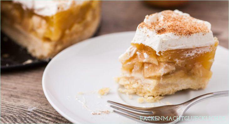 Apfel Sahne Torte Mit Pudding Rezept Apfel Sahne Torte Backen Macht Glucklich Und Apfelkuchen Mit Pudding