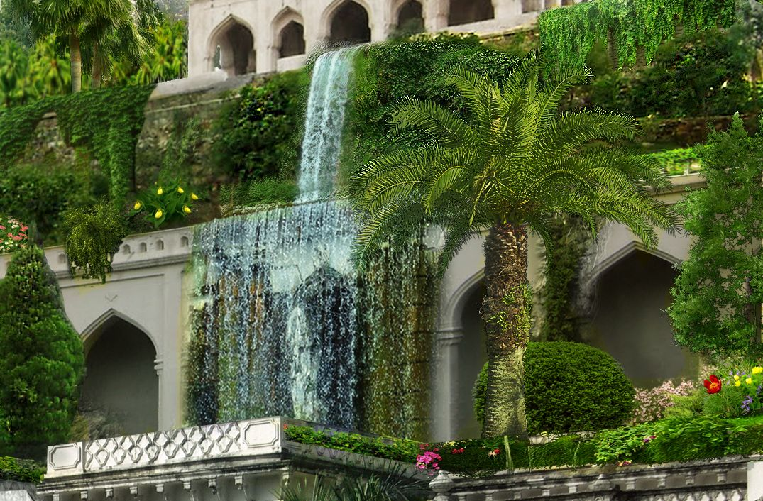The Hanging Gardens Of Babylon Places Gardens Of Babylon Pinterest