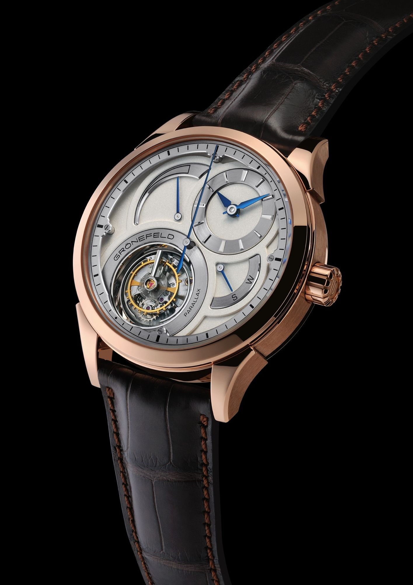 Gronefeld Parallax Rg Tourbillon In Red Gold 5n Limited In 28 Pieces For More Info Www Gronefeld Com Saatler