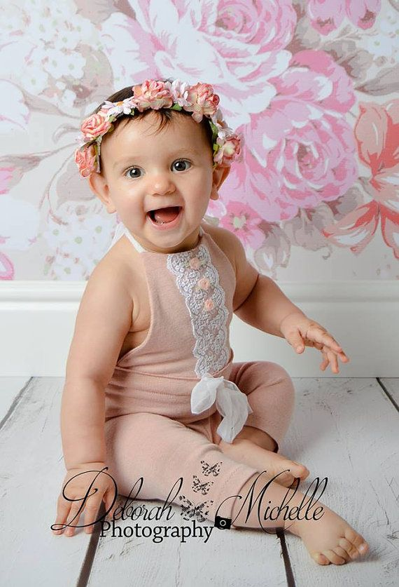 918e3417e0c 6-12 months Pink Romper-Photography Prop Rompers-Baby by zoik ...