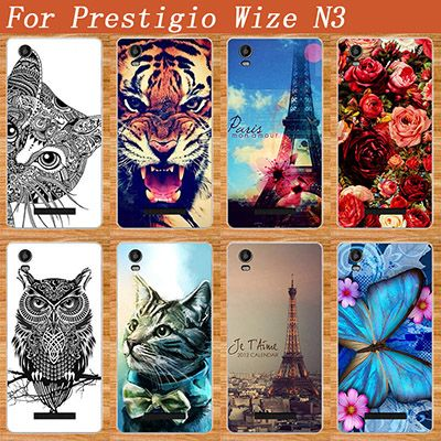 For Prestigio Wize N3 Case Cover Hot Diy Uv Painted Colored Tiger