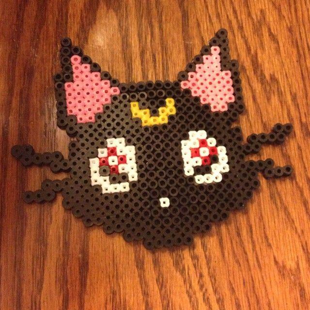 Luna Sailor Moon perler beads by kaitley4
