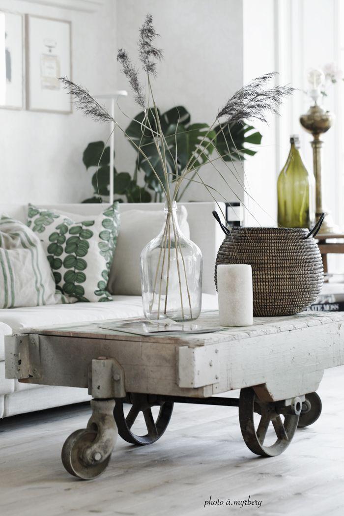 I VÅRT VARDAGSRUM | @my casa.. The green with the white looks fresh