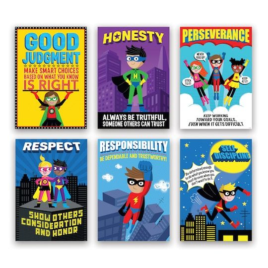 Superhero Character Education Inspire U Poster Pack