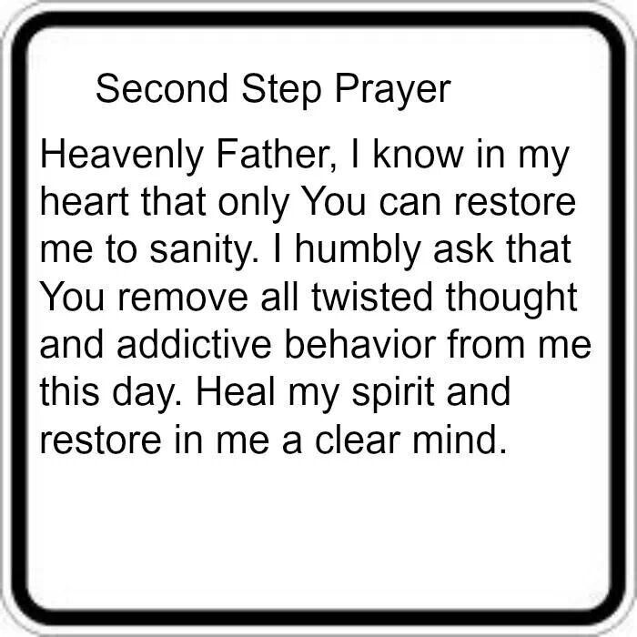 Second Step Prayer Ready For Flip Books Pinterest Recovery