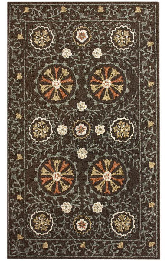 Tuscan Woven Suzani Brown Rug Traditional Rugs