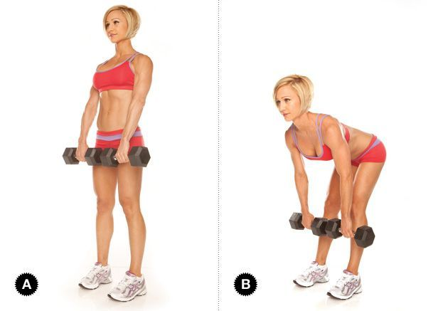 Stiff-Legged Dumbbell Deadlift 15 reps 3 sets | Glutes and ...