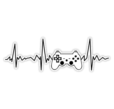 Gamer Heartbeat Esports Video Game Players Sticker By Playloud In 2021 Gamer Tattoos Cool Stickers Gaming Wallpapers