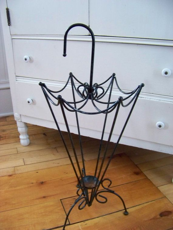 Umbrella Shaped Stand Vintage Wrought Iron Umbrella Stand