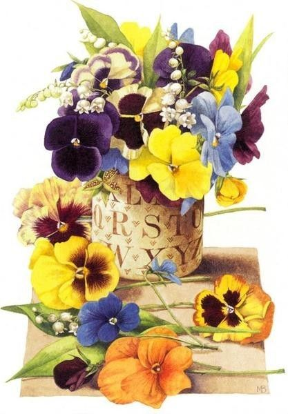 nice painting by Marjolein Bastin. it's amazing how she can get water colors to do what they do.