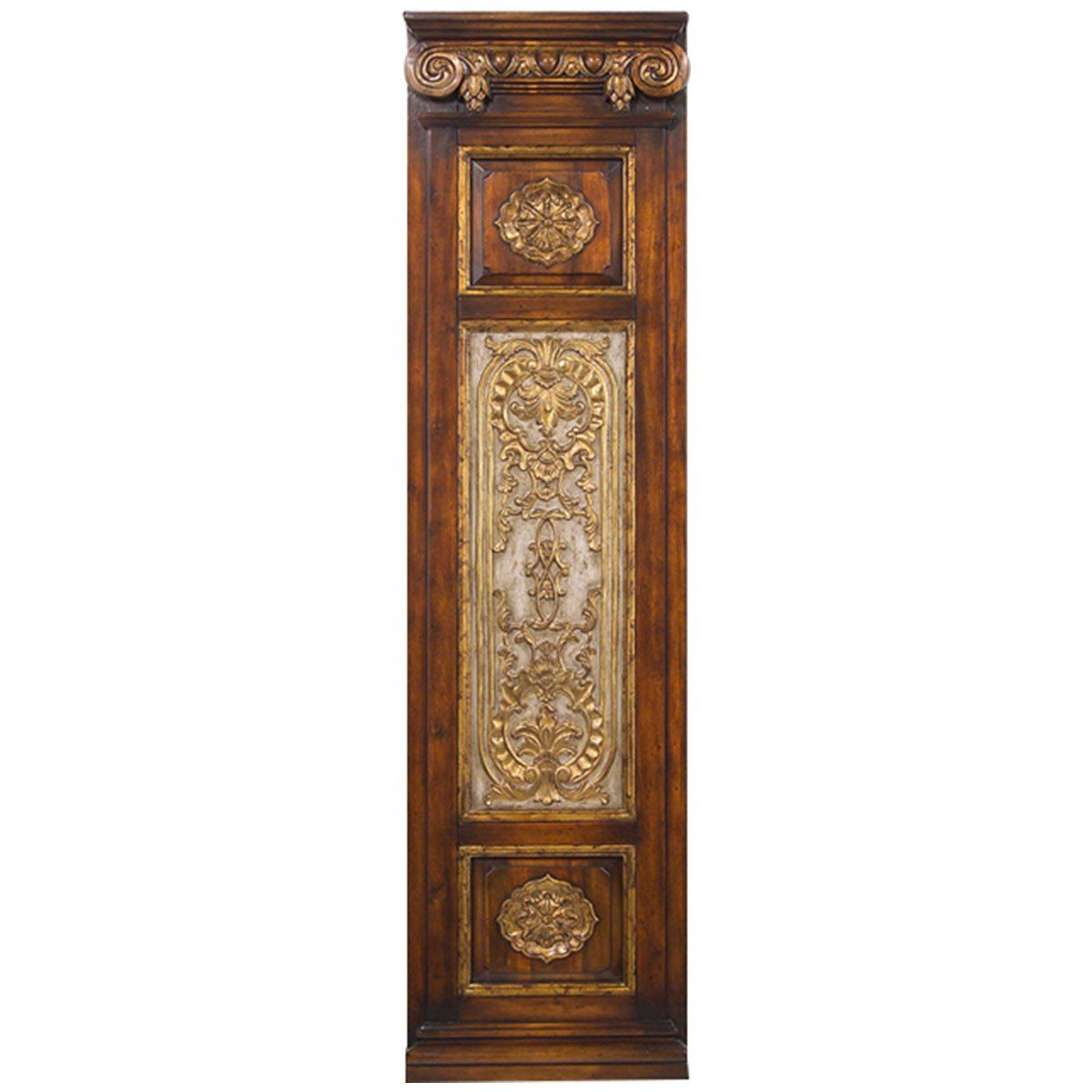 John Richard Colonnade Styled Wood Frame with Carved II Artwork ...
