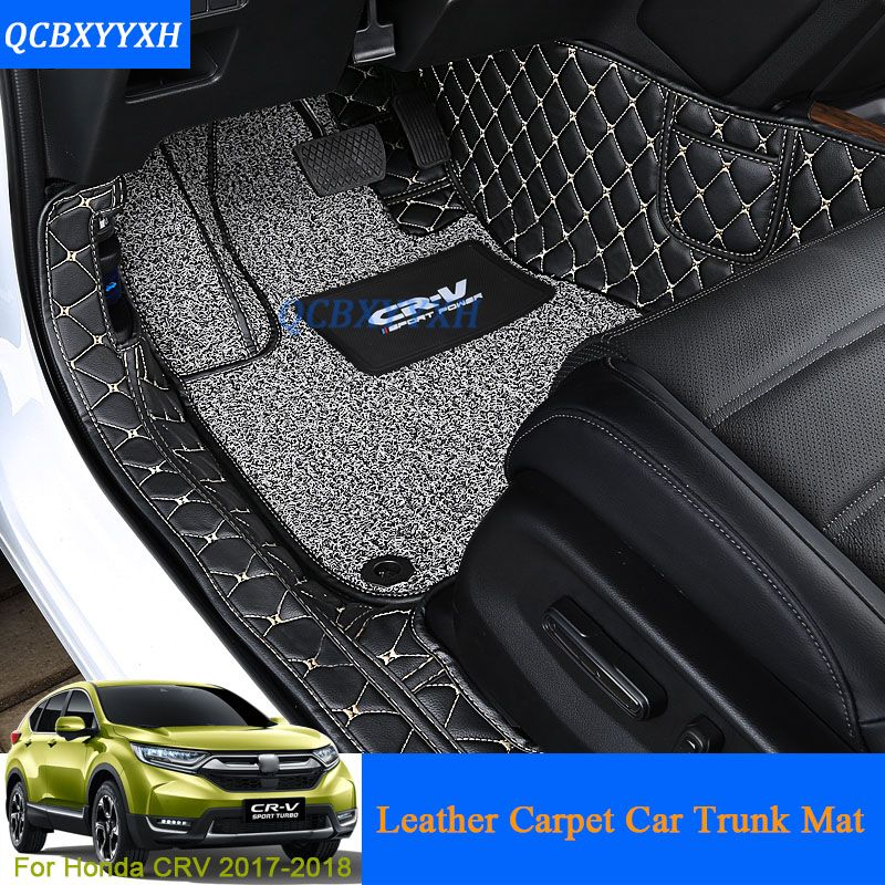 Car Floor Mat 3d Leather Car Styling All Leather Tray Carpet Cargo Liner Custom Fit Car Trunk Mat For Honda Crv Cr V 2017 Carpet A Honda Crv Car Trunk Fit Car