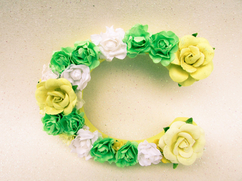 Flower name letter - Floral wall letter - Floral letter C - Floral ...