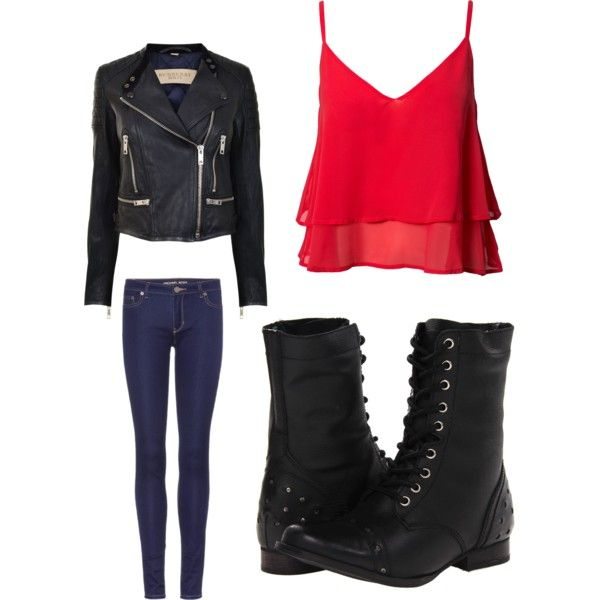 marvellous red school outfit 10