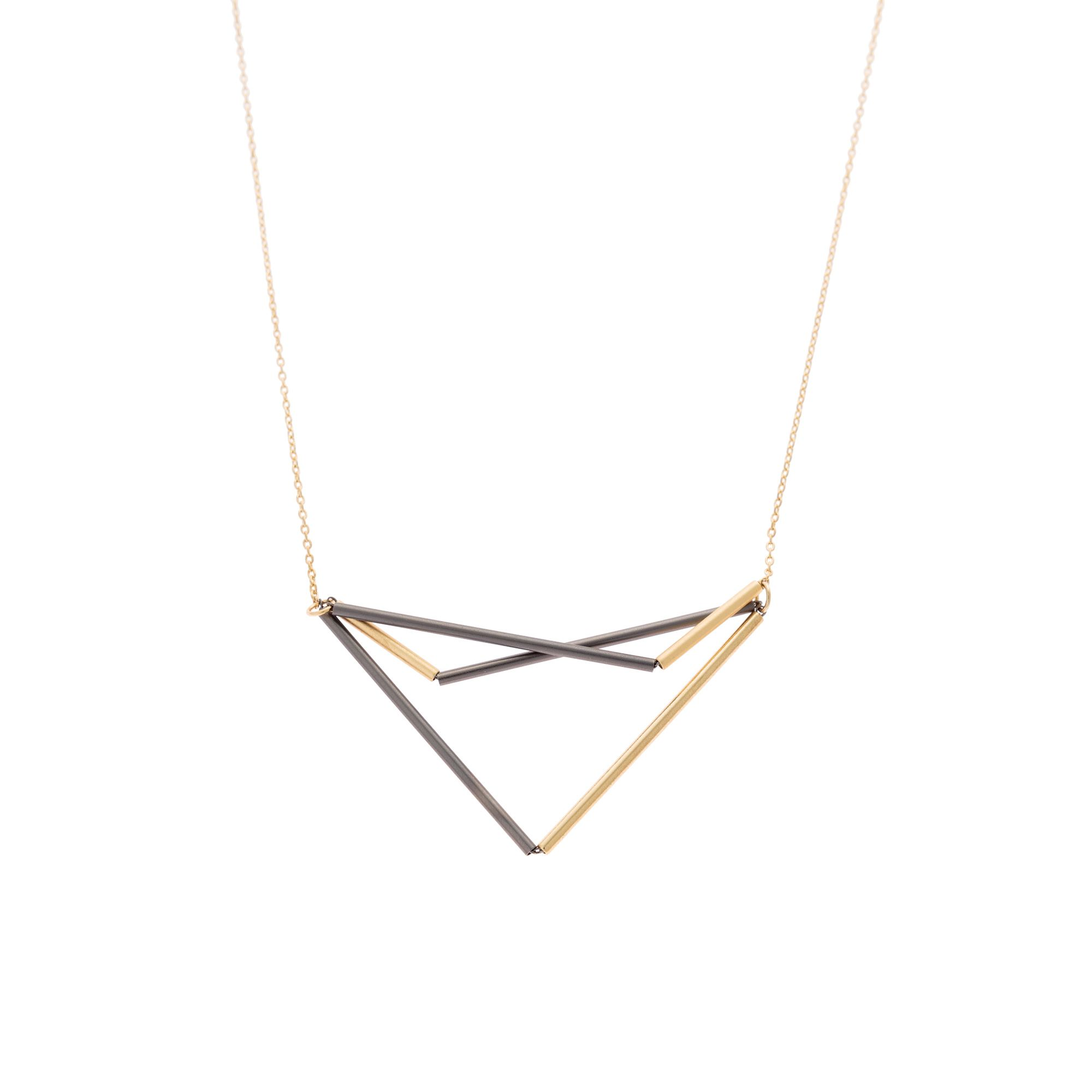 necklaces adjustable necklace triangular pendant jewellery zsiska white from