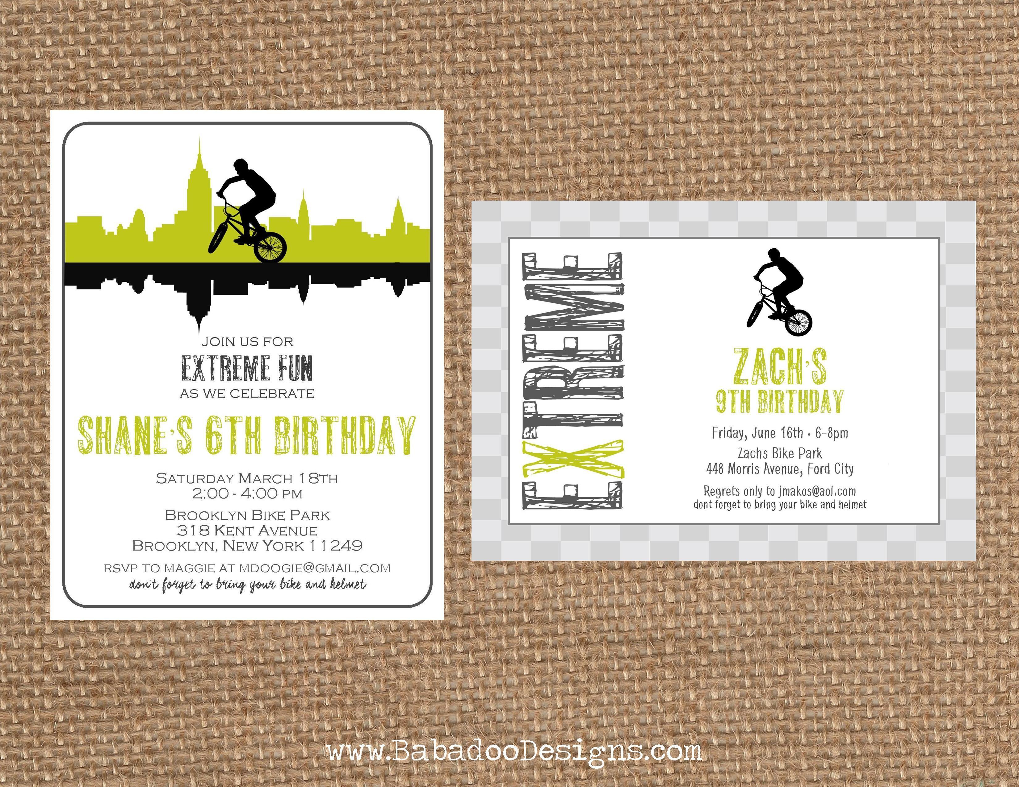 BMX + BIKE + EXTREME + Dirt // Birthday + Baby Shower + Bachlor ...
