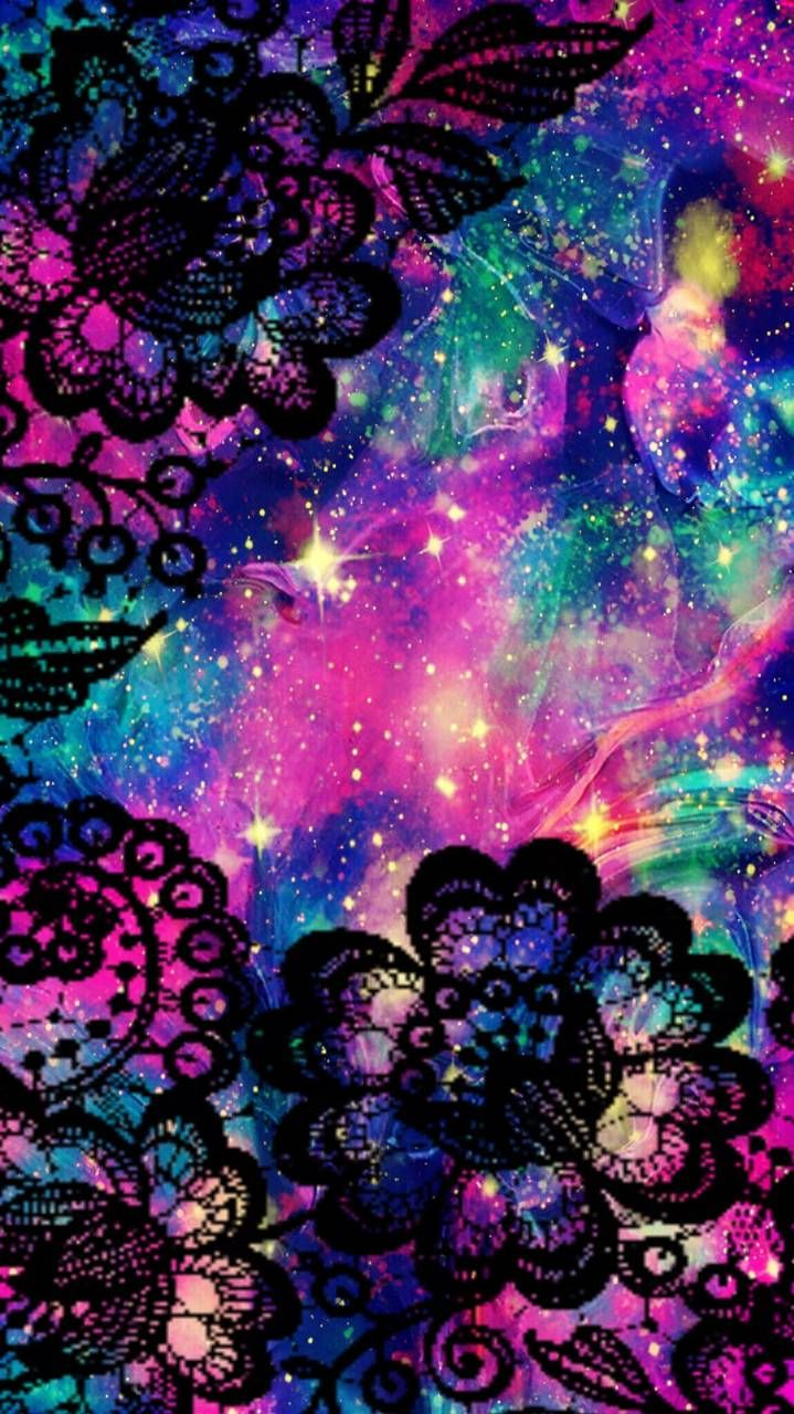 Lace Flowers Galaxy Wallpaper androidwallpaper