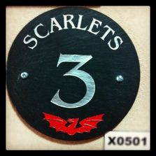 Official scarlets house slate plaque