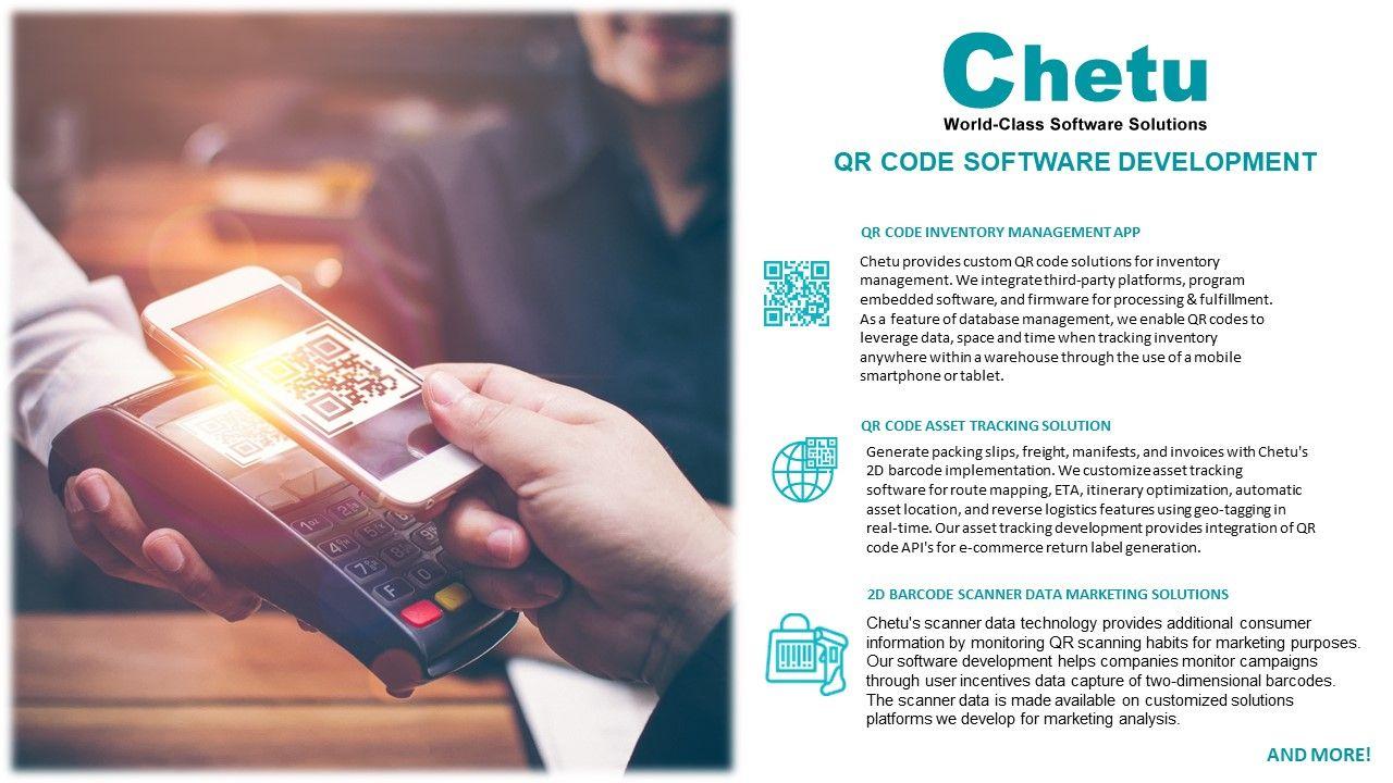 Qr Code Development 2d Barcode Scan Technology Chetu Coding Coding Software Qr Code