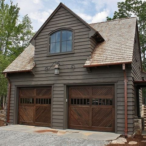 Wavy Edge Cedar Siding Garage Doors Garage Design Garage House