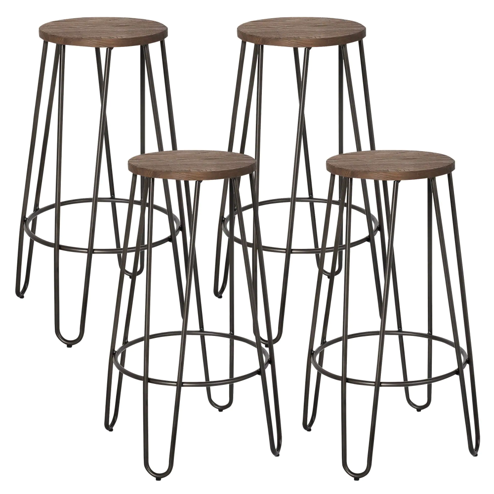 Shop Revo 26 Inch Counter Stool Set Of 4 Free Shipping Today Overstock 10335932 Bar Stools Metal Counter Stools Counter Stools 26 inch metal bar stools