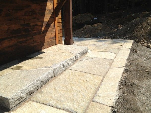 Hand worked step and patio stone