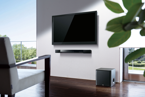 How To Pick The Right Sound Bar To Go With Your Flat Screen Tv Wall Mounted Tv Mounted Tv Ideas Living Rooms Sound Bar