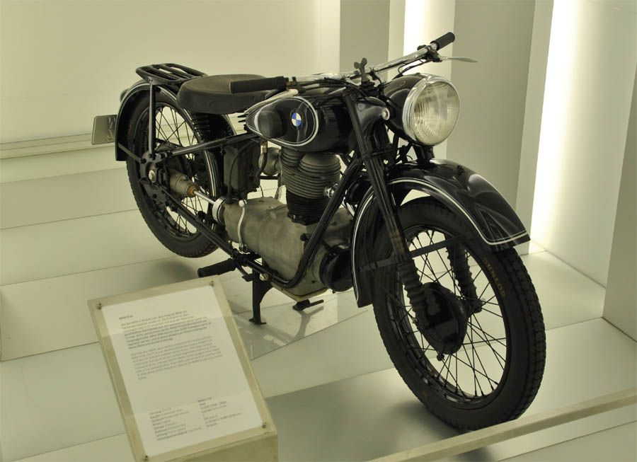 a classic 1930 39 s bmw r24 motorcycle displayed at the bmw museum in munich m nchen wheel. Black Bedroom Furniture Sets. Home Design Ideas