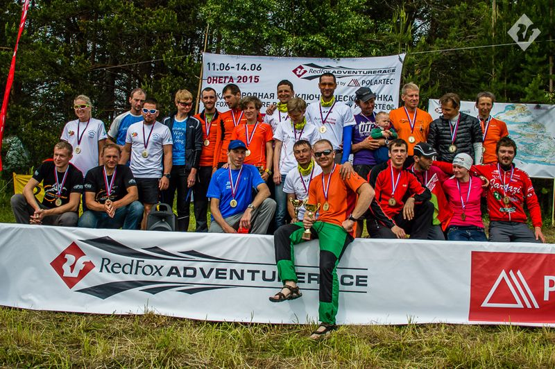 The winners of Red Fox Adventure Race 2015